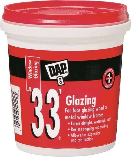 DAP Ready-to-Use Window Glazing - White, 16oz