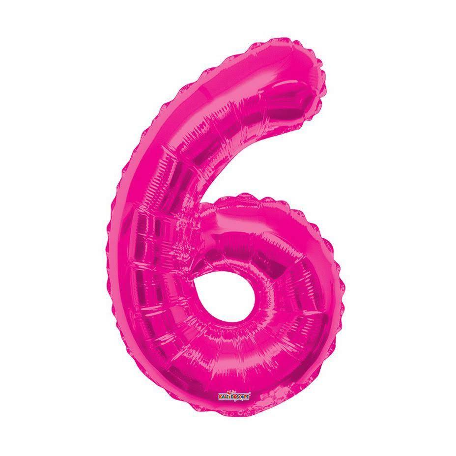 Number 6 Foil Balloon - Pink