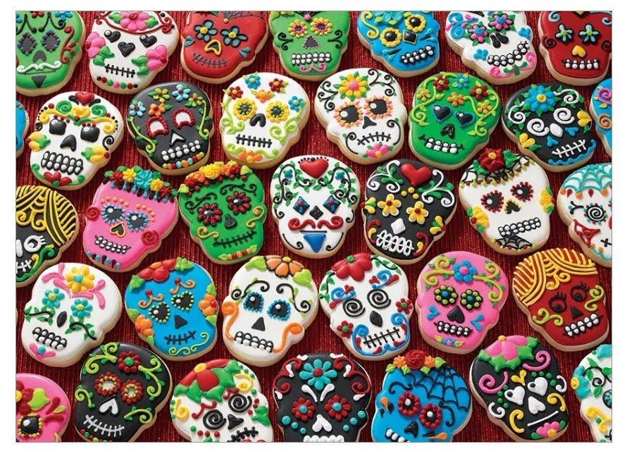 Cobble Hill Sugar Skull Cookies 1000 Piece Puzzle