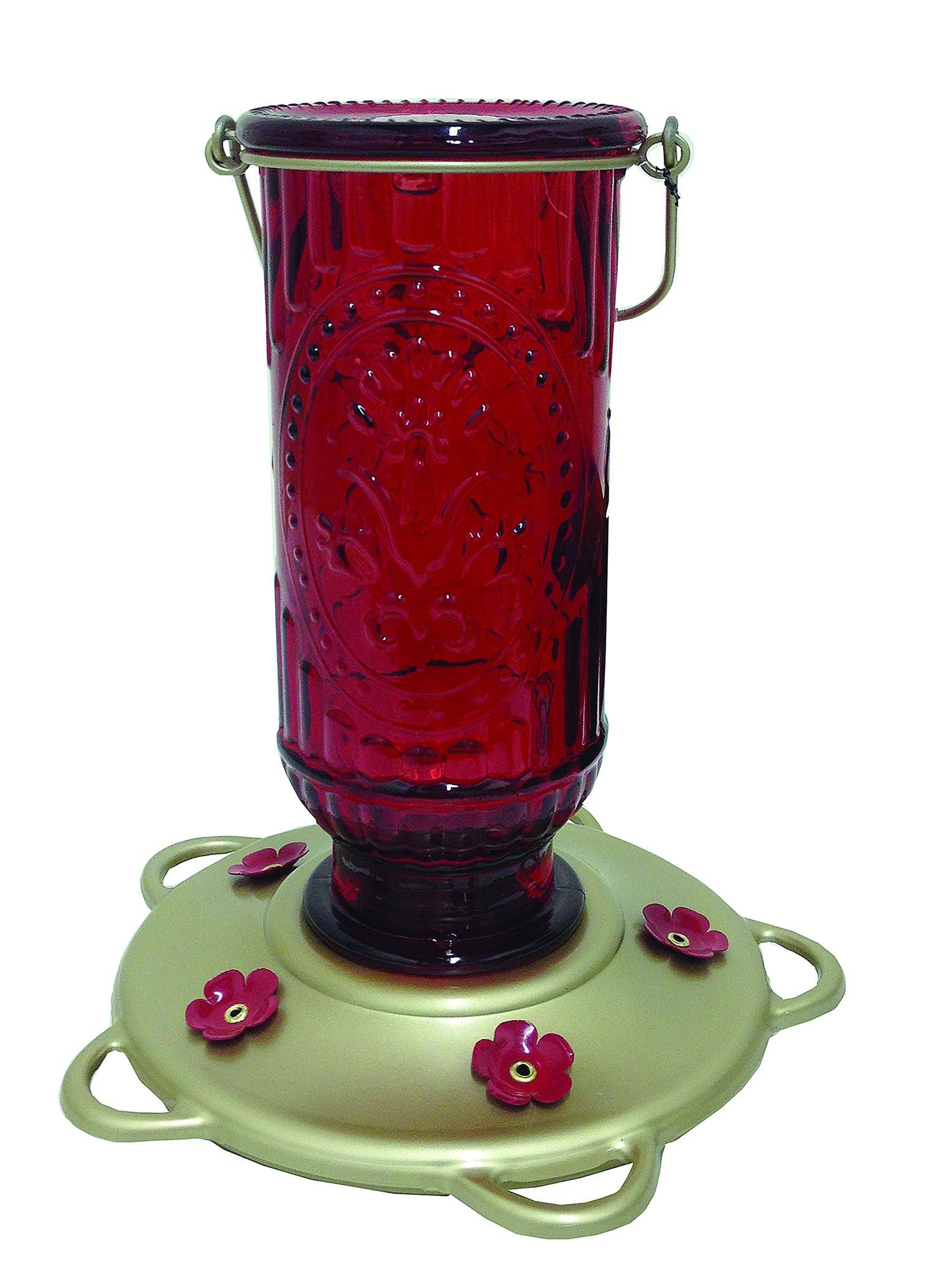 Classic Brands Vintage Humming Bird Feeder - Red, 20oz