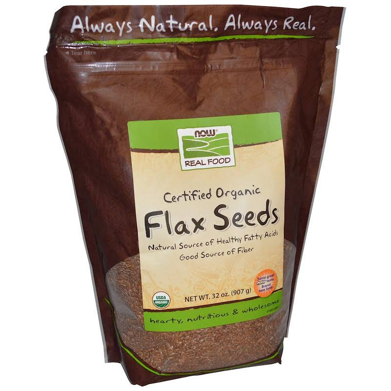 Now Foods 733739062581 Organic Flax Seeds - 2lbs