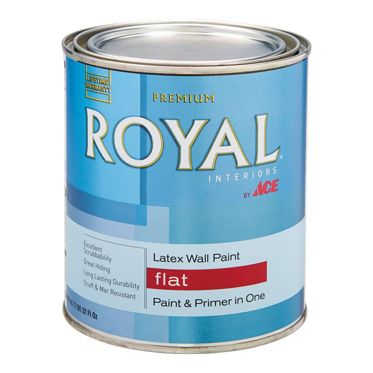 Ace Royal Touch Interior Flat Latex Paint - 1 Quart