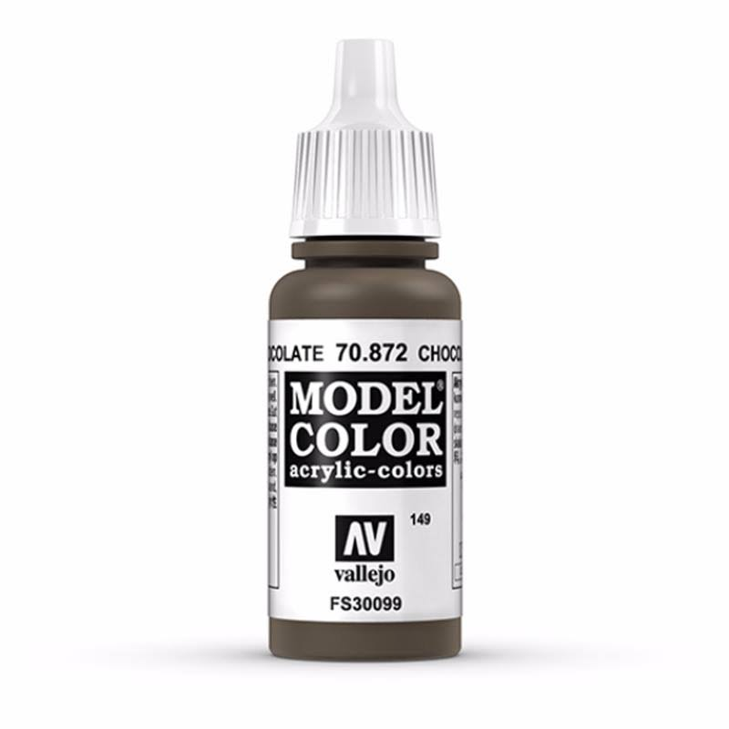 Vallejo Model Color Acrylic Paint - Chocolate Brown, 17ml