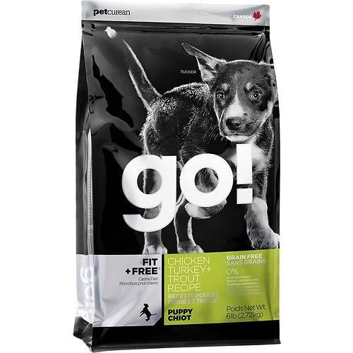 Go! Fit + Free Grain-Free Chicken, Turkey & Trout Puppy Recipe Dry Dog Food - 25lbs