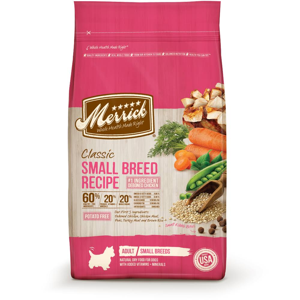 Merrick Classic Small Breed Recipe Adult Dry Food - 4 Lb