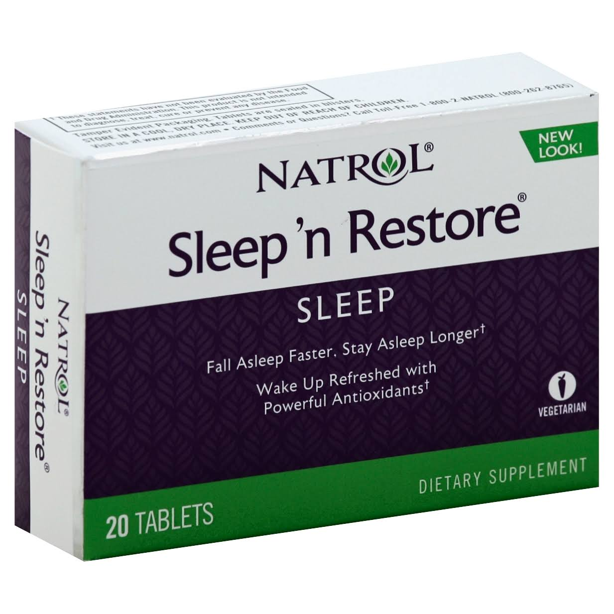 Natrol Sleep 'N Restore Dietary Supplement - 20 tablets
