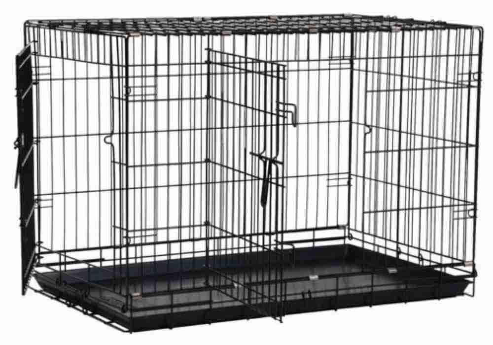 Precision Pet Double Door Dog Crate - Black, Large