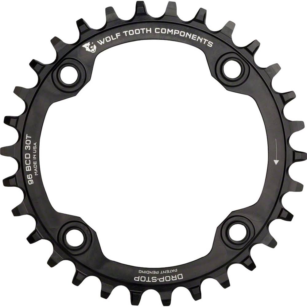 Wolf Tooth Components SYM9630 Drop Stop Chainring - Black, 30t