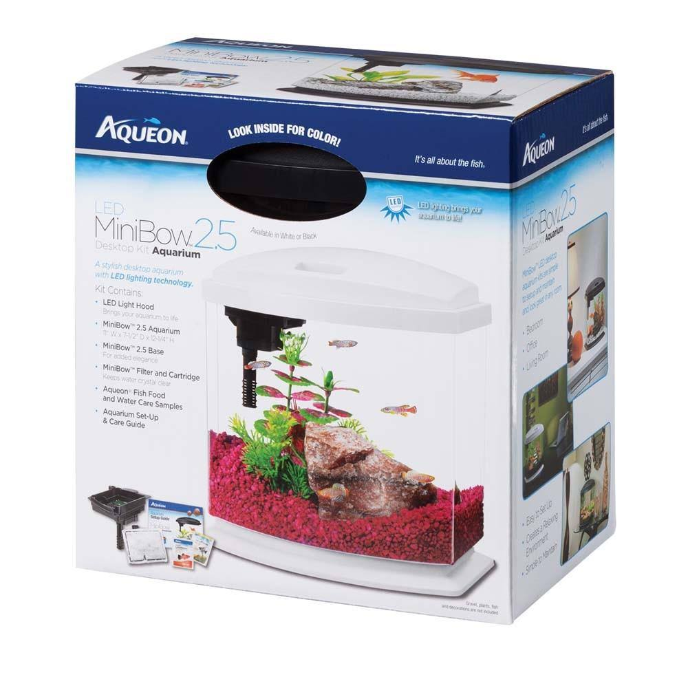 Aqueon LED Mini Bow Acrylic Desktop Aquarium Kit - 2.5 gal