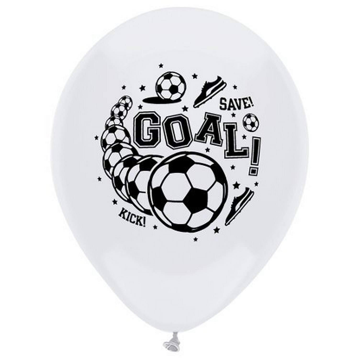 Soccer Printed Latex Balloons - 8ct