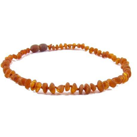 The Amber Monkey Baroque 12-13 inch Necklace, Raw Cognac Pop