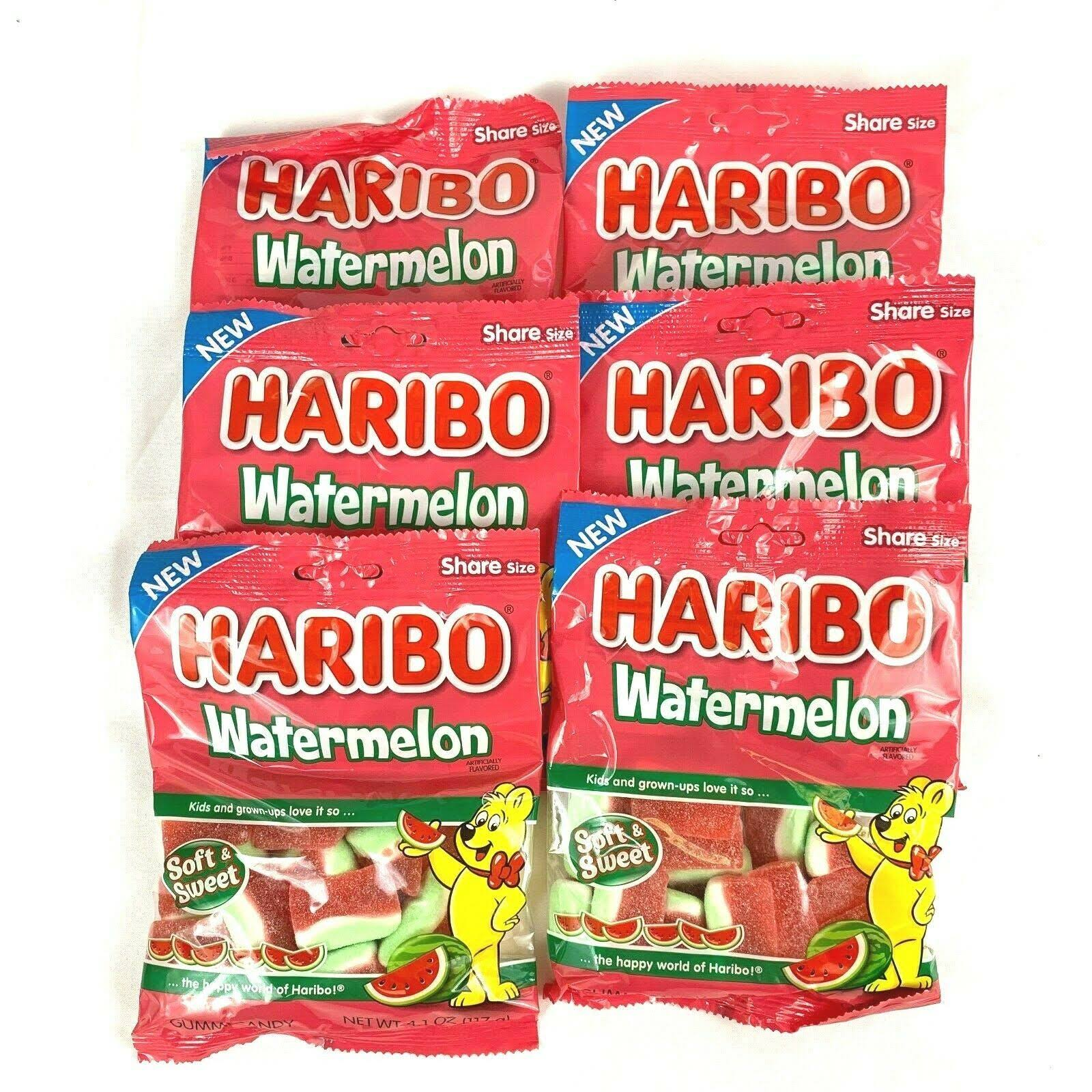 Haribo Gummi Candy, Watermelon, Share Size - 4.1 oz