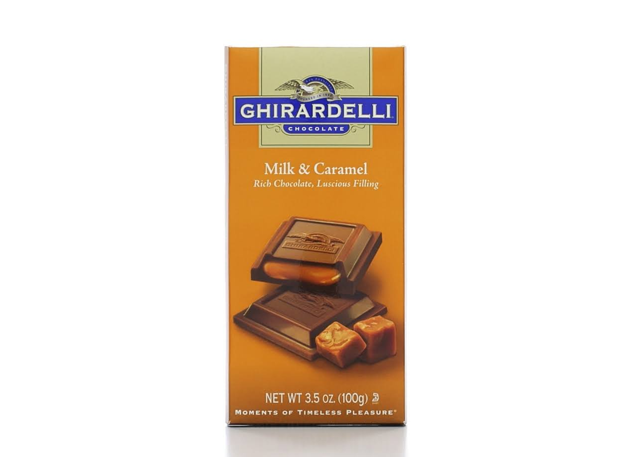 Ghirardelli Chocolate Bar - Milk and Caramel, 3.5oz