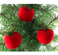 Christmas Tree Amazon Prime by Amazon Com 12 Pcs Christmas Red Apples Christmas Tree Hanging