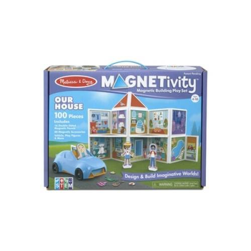 Melissa & Doug Building Play Set Our House Magnetivity Magnetic