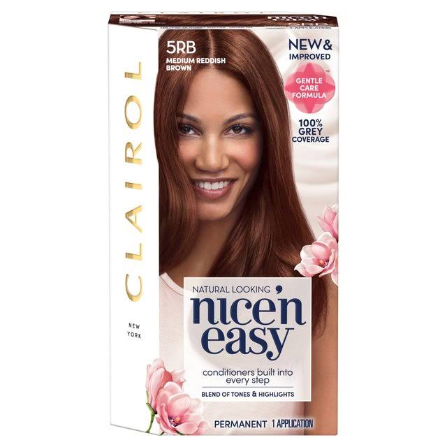 Clairol Nice'n Easy Permanent Hair Dye - 5RB Medium Reddish Brown