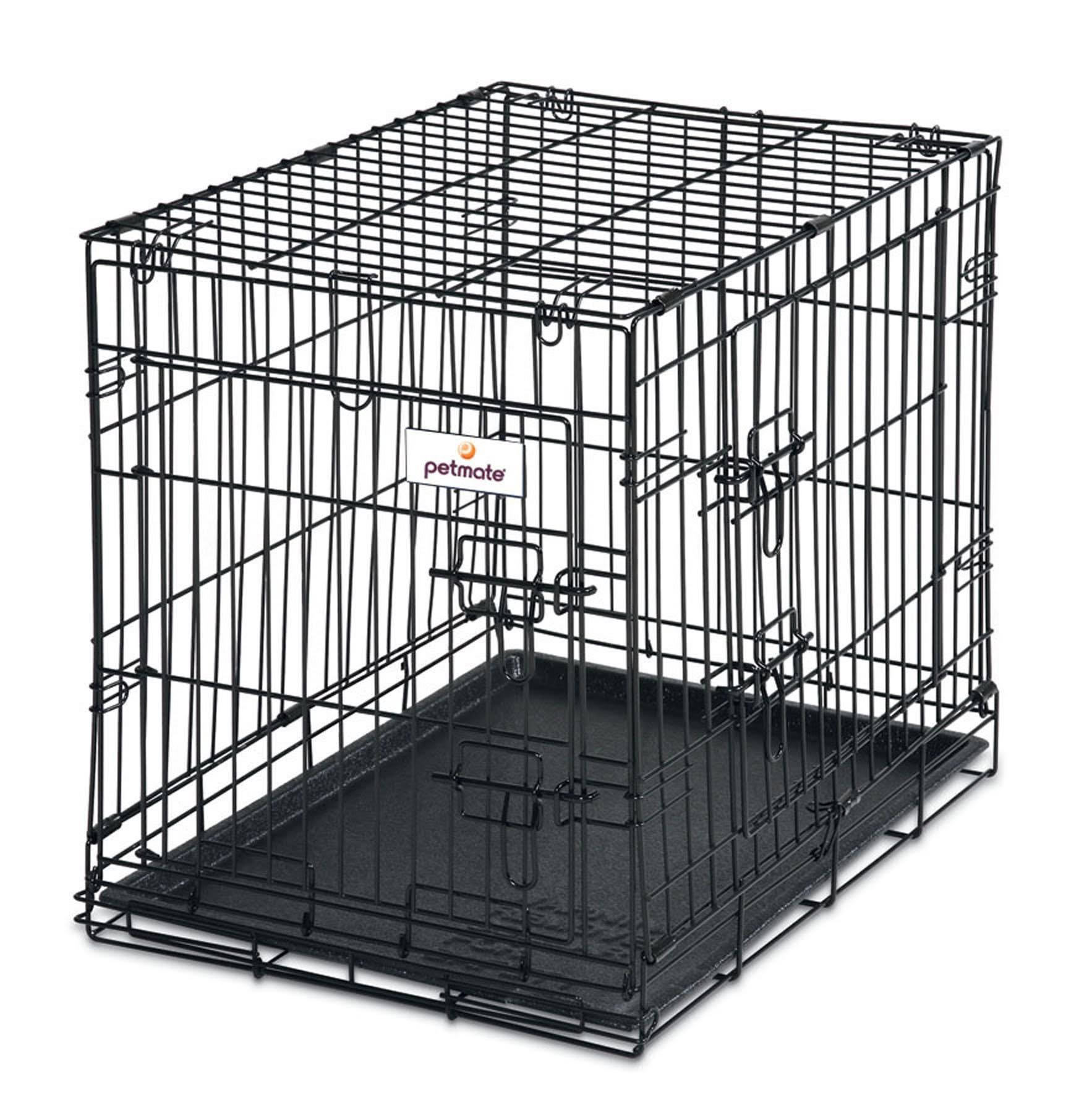 Petmate 2-Door Training Retreats Wire Kennel for Dogs - 25-30lb, 24""