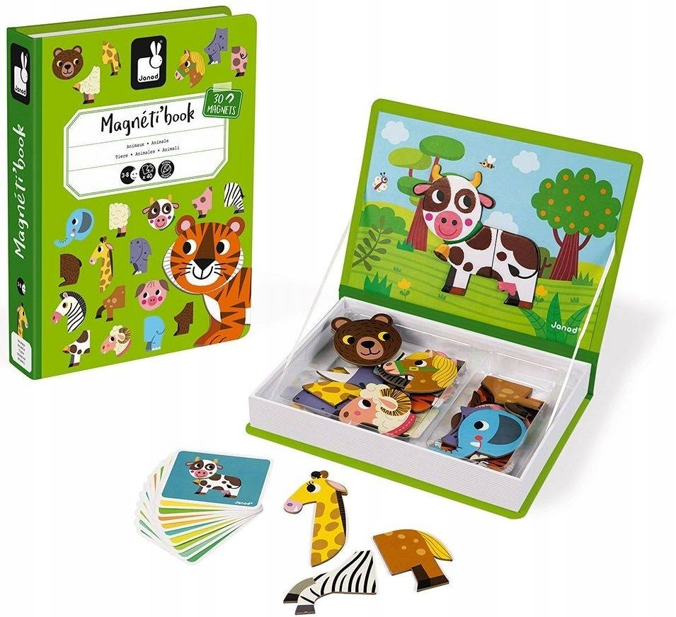 Janod Animals Magneti'book Wooden Toys Games