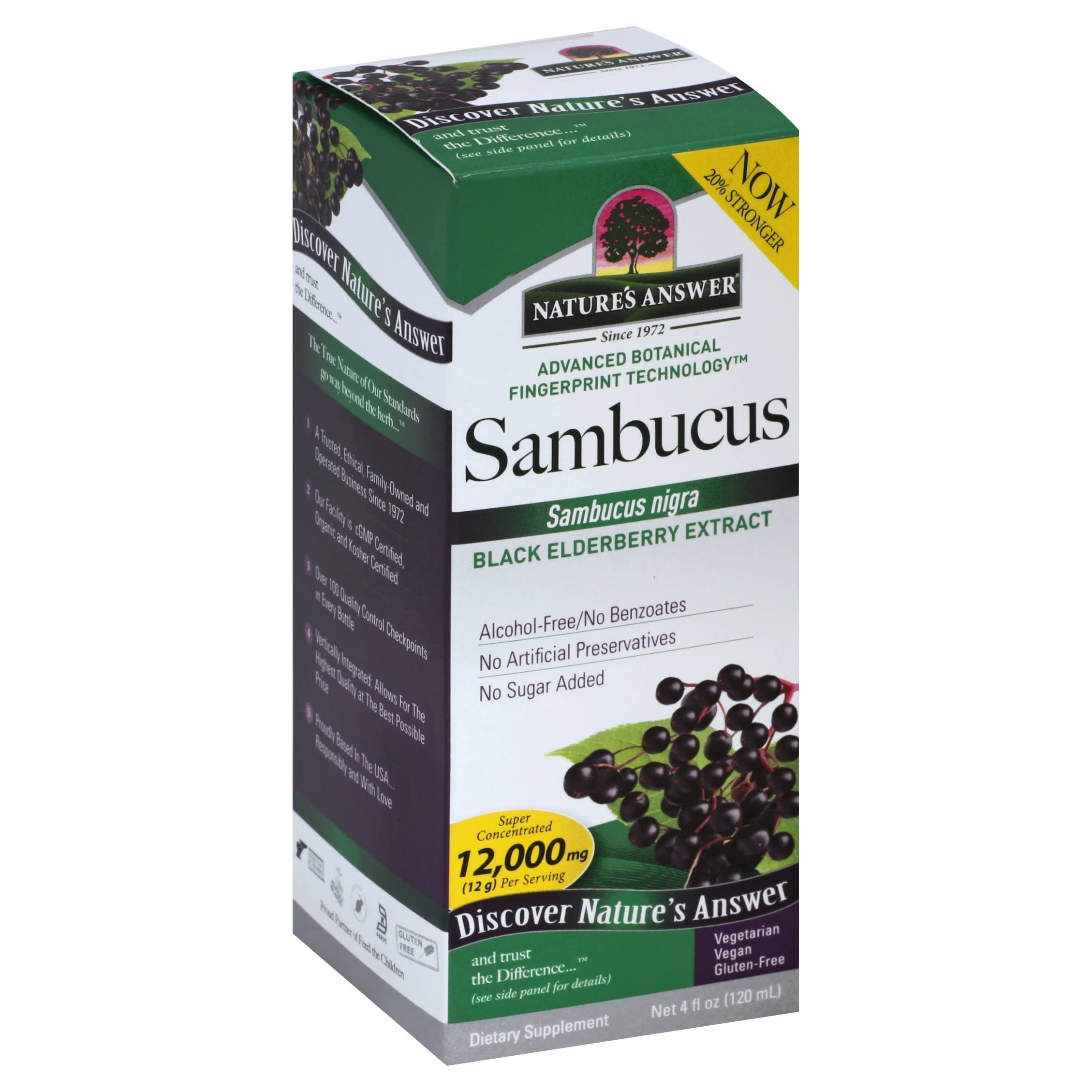 Nature's Answer Sambucus Black Elder Berry Extract - 120ml