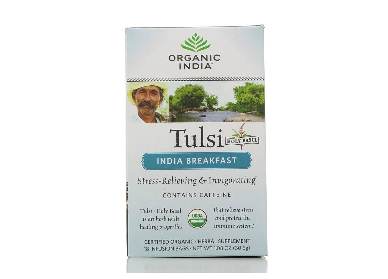Organic India Tulsi Holy Basil Breakfast Tea Infusion Bags - 18ct, 1.08oz