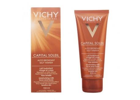 Vichy Idéal Soleil Moisturizing Bronzing Lotion - for Face and Body, 100ml