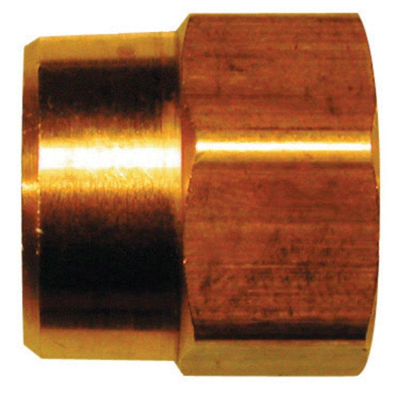 "JMF 47030 Low Pressure Hose Adapter - 3/4"" x 1/2"", Yellow Brass"