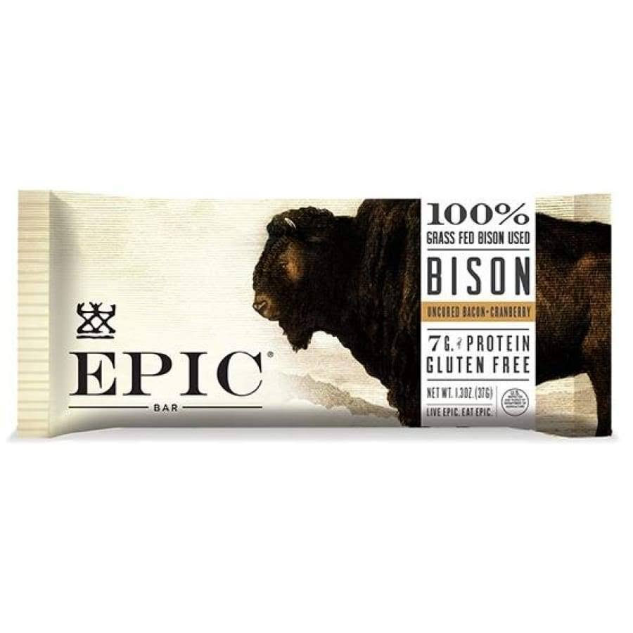 Epic Meat Bar - Bison Bacon Cranberry Bar, Single Bar