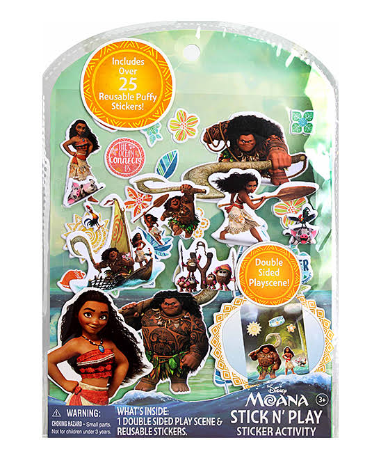 Tara Toy Corporation Girls' Art Stickers - Moana Stick N' Play Activity Set