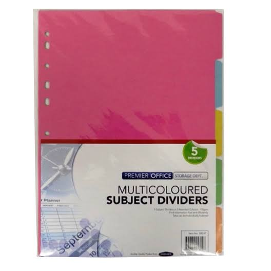 Subject Dividers - 5 Divisions