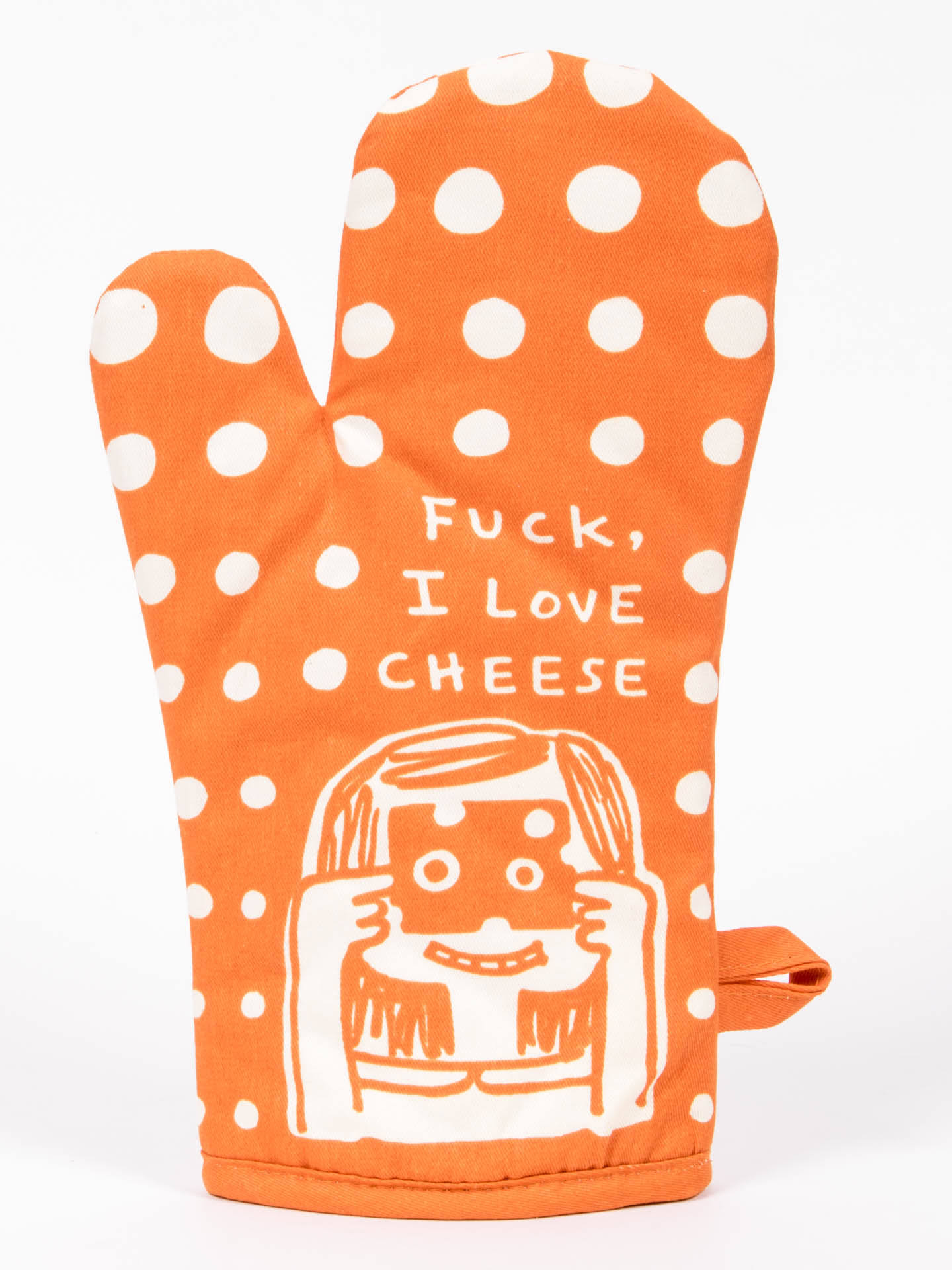 Blue Q Oven Mitt - Fuck, I Love Cheese