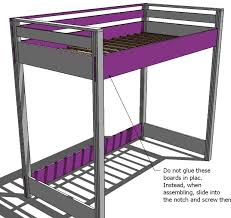 Wood Bunk Beds Plans by Ana White How To Build A Loft Bed Diy Projects