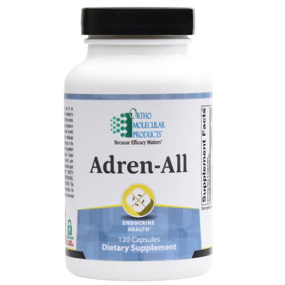 Ortho Molecular Adren-All Supplement - 120 Capsules