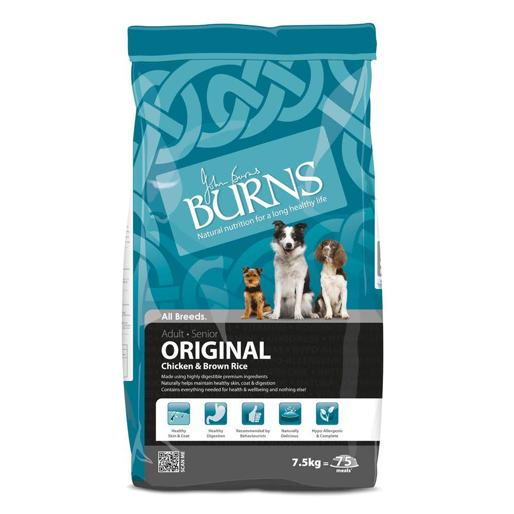 Burns Original Chicken & Brown Rice Adult & Senior Dog Food 6kg