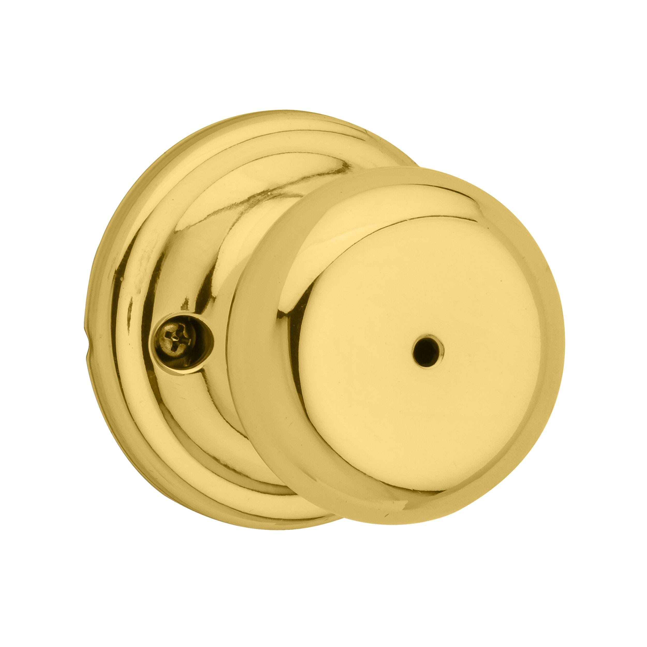 Kwikset Juno Privacy Lock - Bright Brass 730J3CP