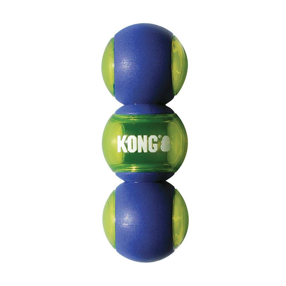 Kong Squeezz Action Tower Dog Toy Blue Medium