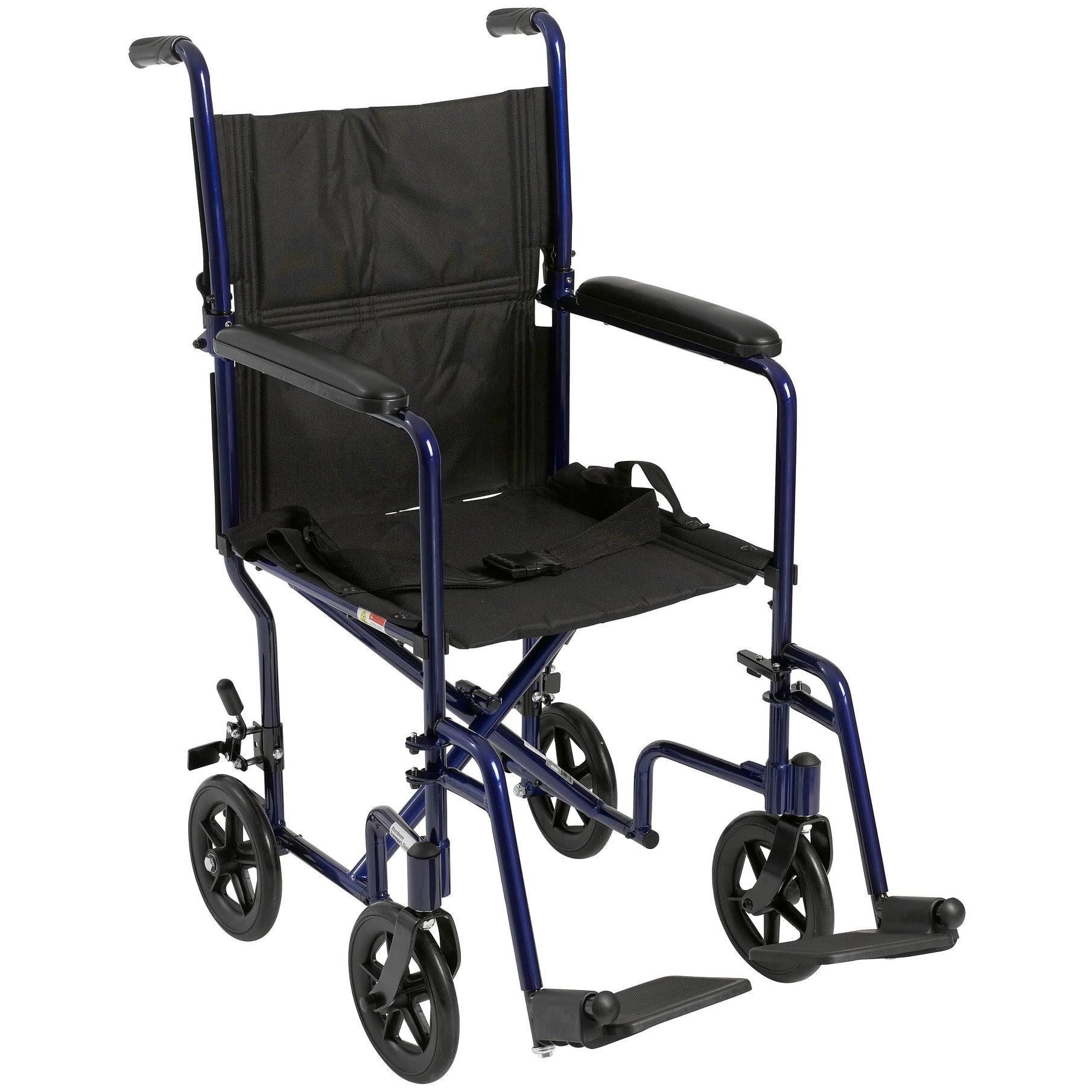 Drive ATC19-BL Lightweight Transport Wheelchair - Blue