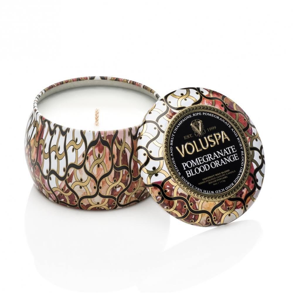 Voluspa Decorative Tin Pomegranate Blood Orange
