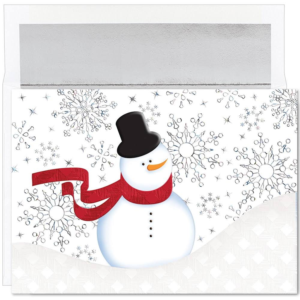 Great Papers! Holiday Greeting Card, Snappy Snowman, 16 Cards/16 Foil-Lined Envelopes, 7.875 inchX5.625 inch