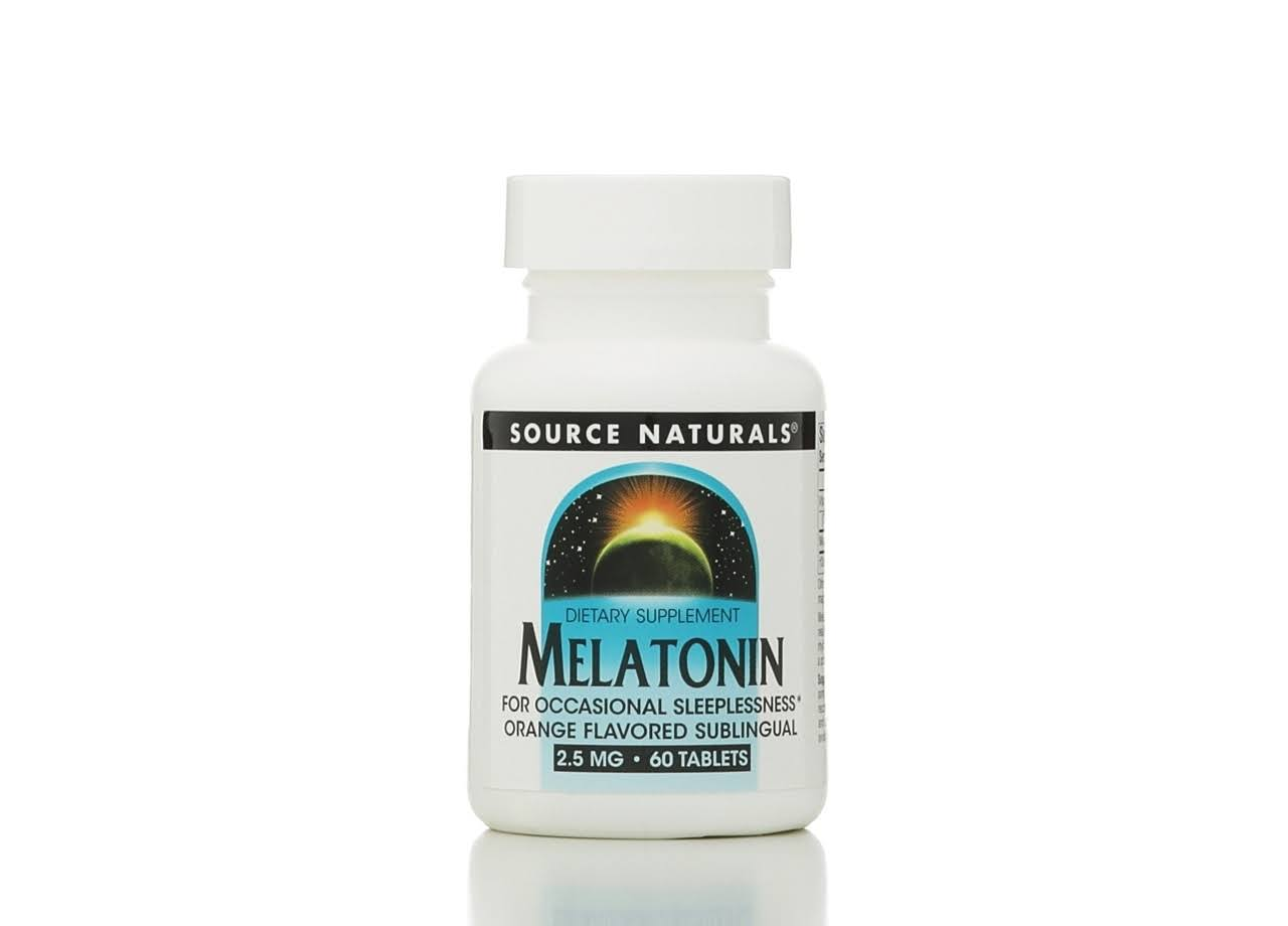 Source Naturals Melatonin Dietary Supplement - 2.5mg, 60 Pack