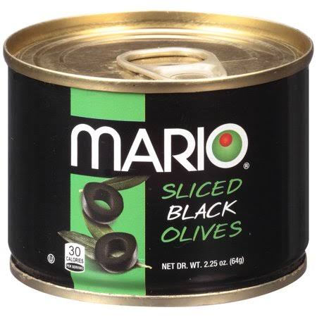 Mario Sliced Black Olives - 2.25oz