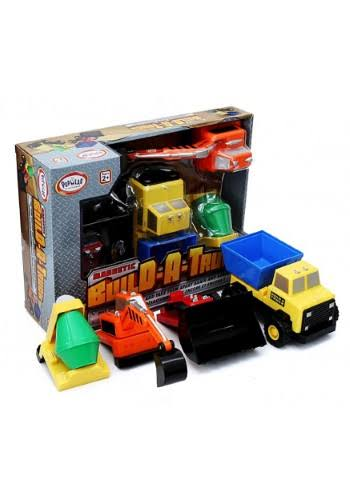 Popular Playthings Mix or Match Magnetic Build a Truck Play Set