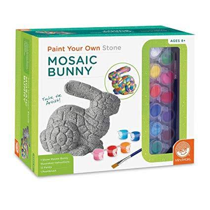 MindWare Create Paint Your Own Stone Mosaic Bunny Craft Kit