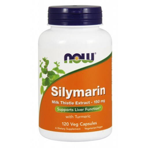 NOW Foods Silymarin Milk Thistle Extract Supplement - 120 Vcaps