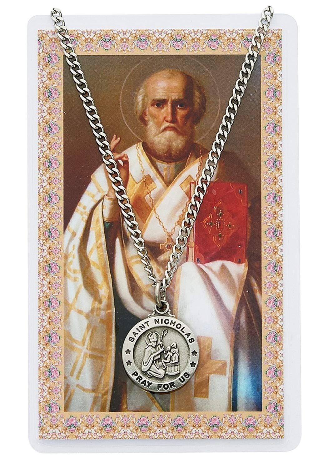 Mcvan St. Nicholas Medal with Prayer Card