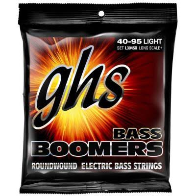 GHS L3045 Bass Boomers 4 String Roundwound Electric Bass Strings - Long Scale, 40-95 Light