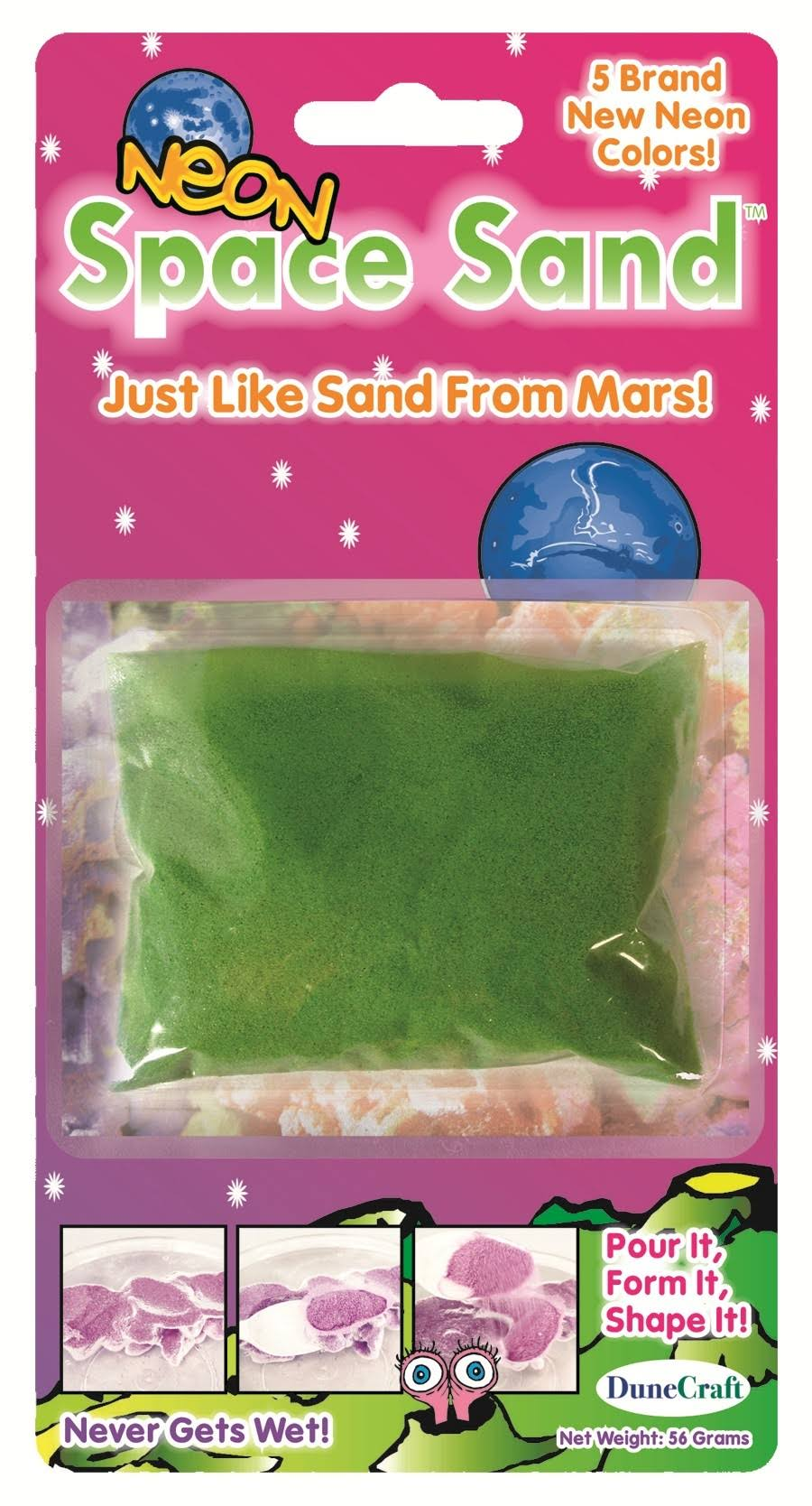 Dunecraft Neon Green Space Sand: 2oz of Hydrophobic Sand
