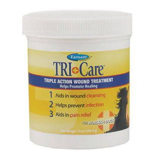 Farnam Companies Horses and Dogs Tri-Care Wound Treatment - 14oz