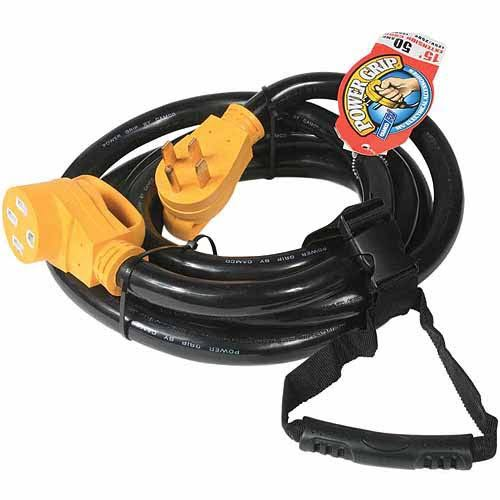 Camco 55194 RV Power Grip Extension Cord - 15'