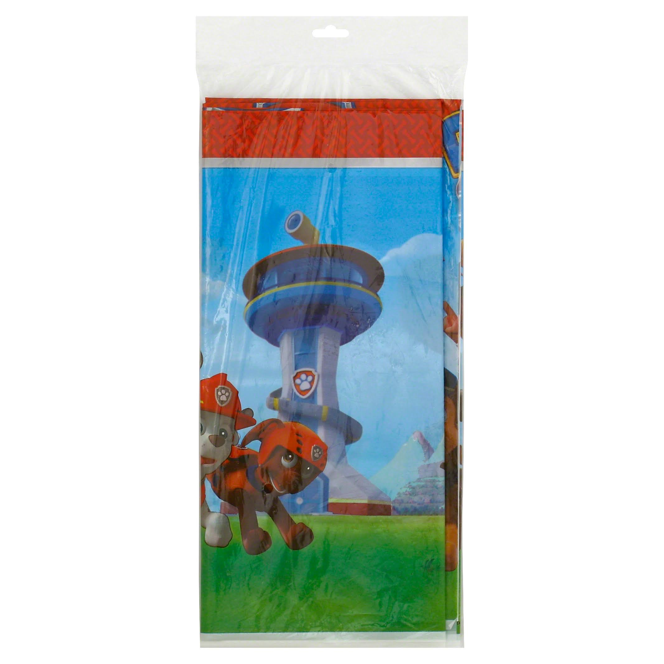 "Paw Patrol Plastic Table Cover 54"" x 96"""