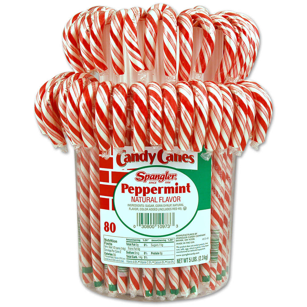 Spangler King Size Candy Canes - Peppermint, 80ct